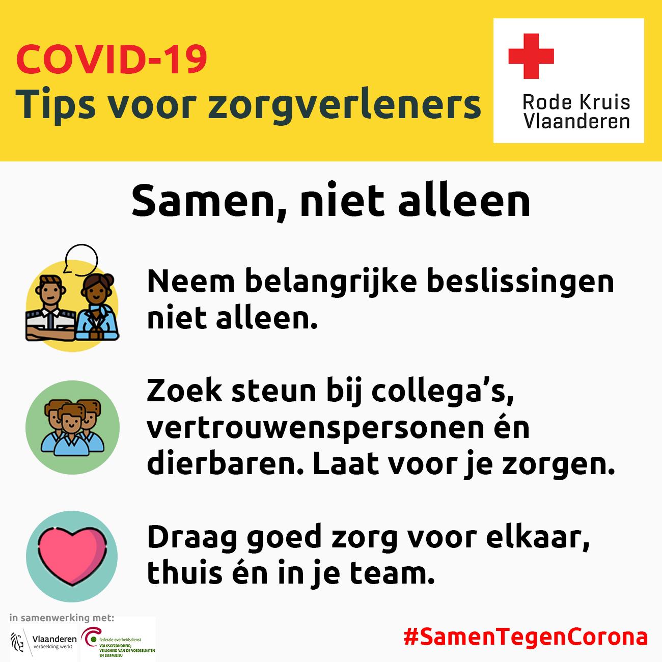 Coronavirus: samen, niet alleen