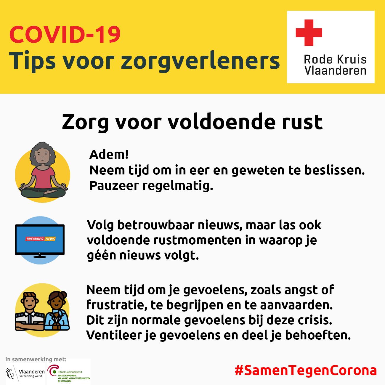 Coronavirus: zorg voor voldoende rust