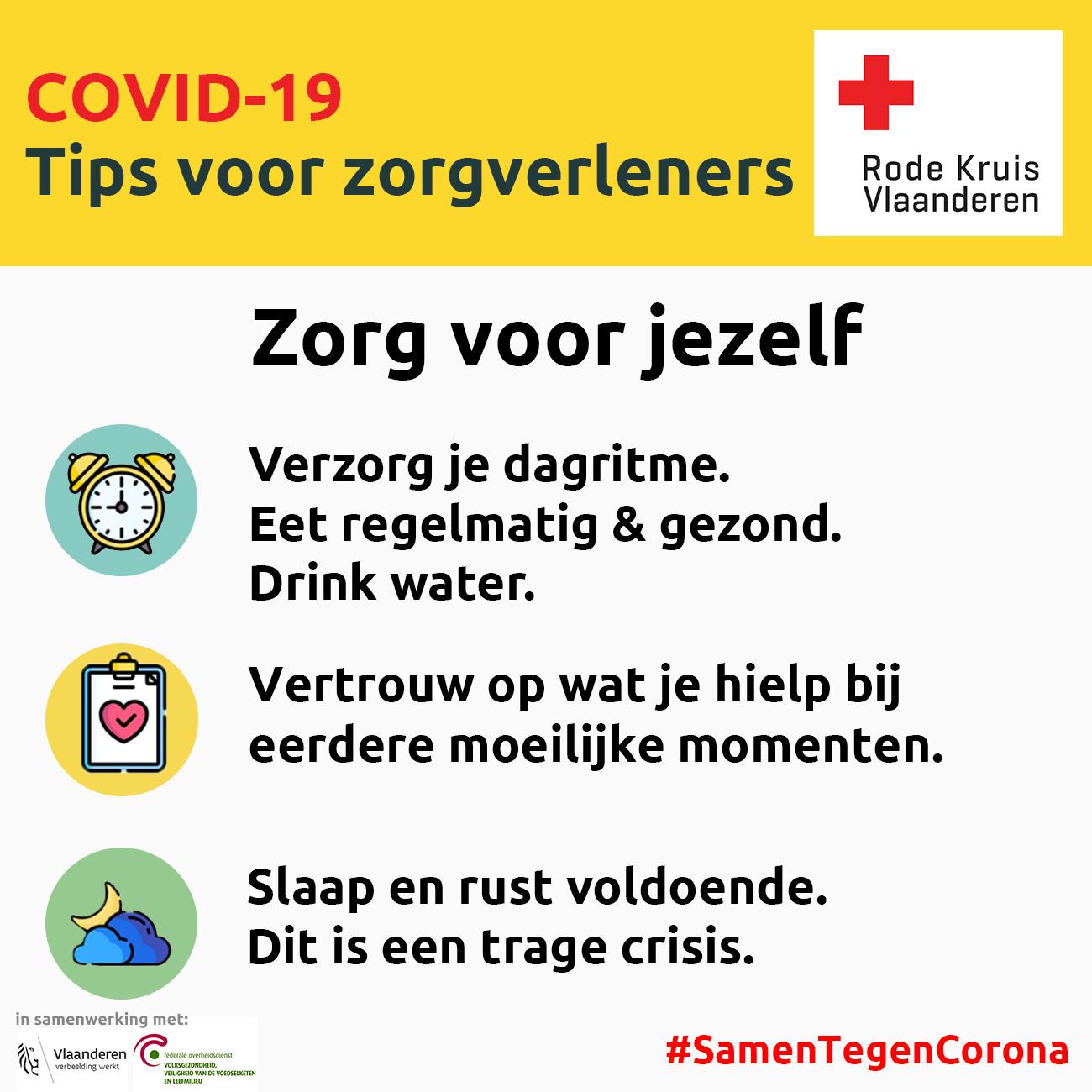 Coronavirus: zorg voor jezelf