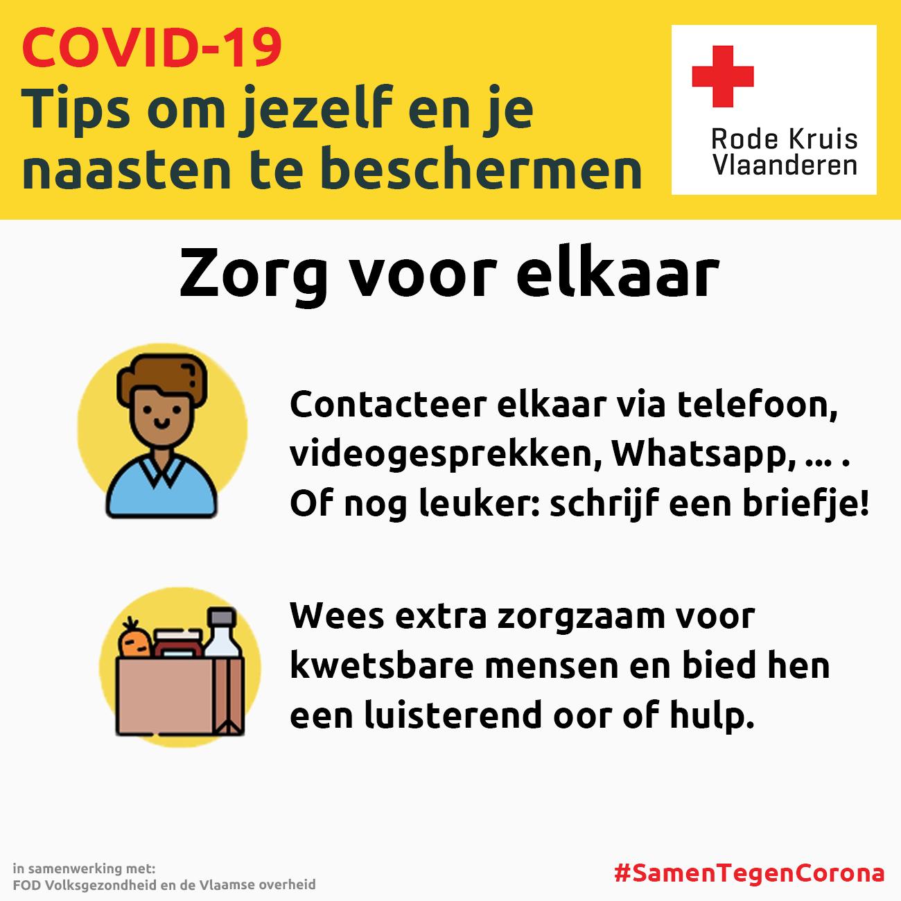 Coronavirus: zorg voor elkaar
