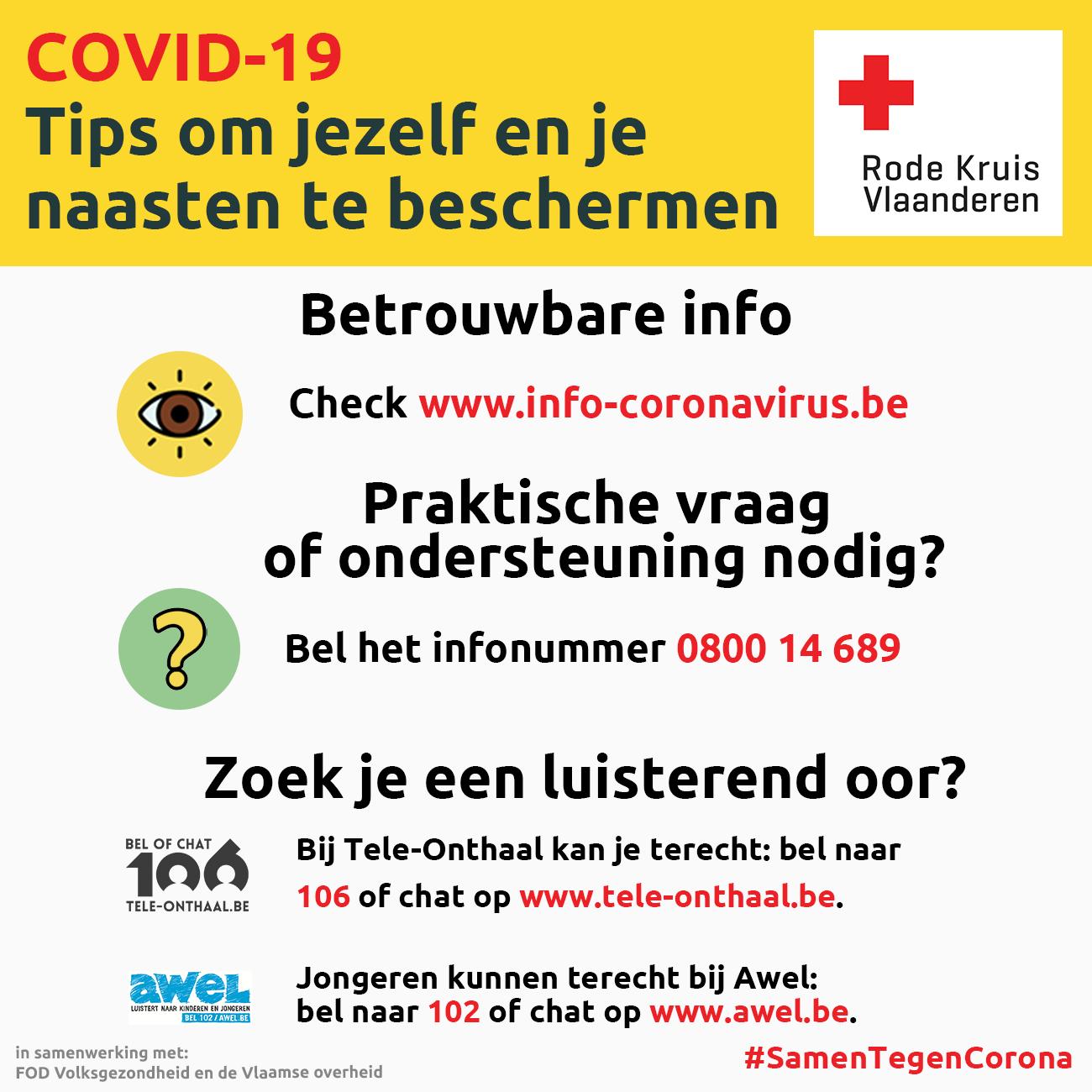 Coronavirus: betrouwbare info