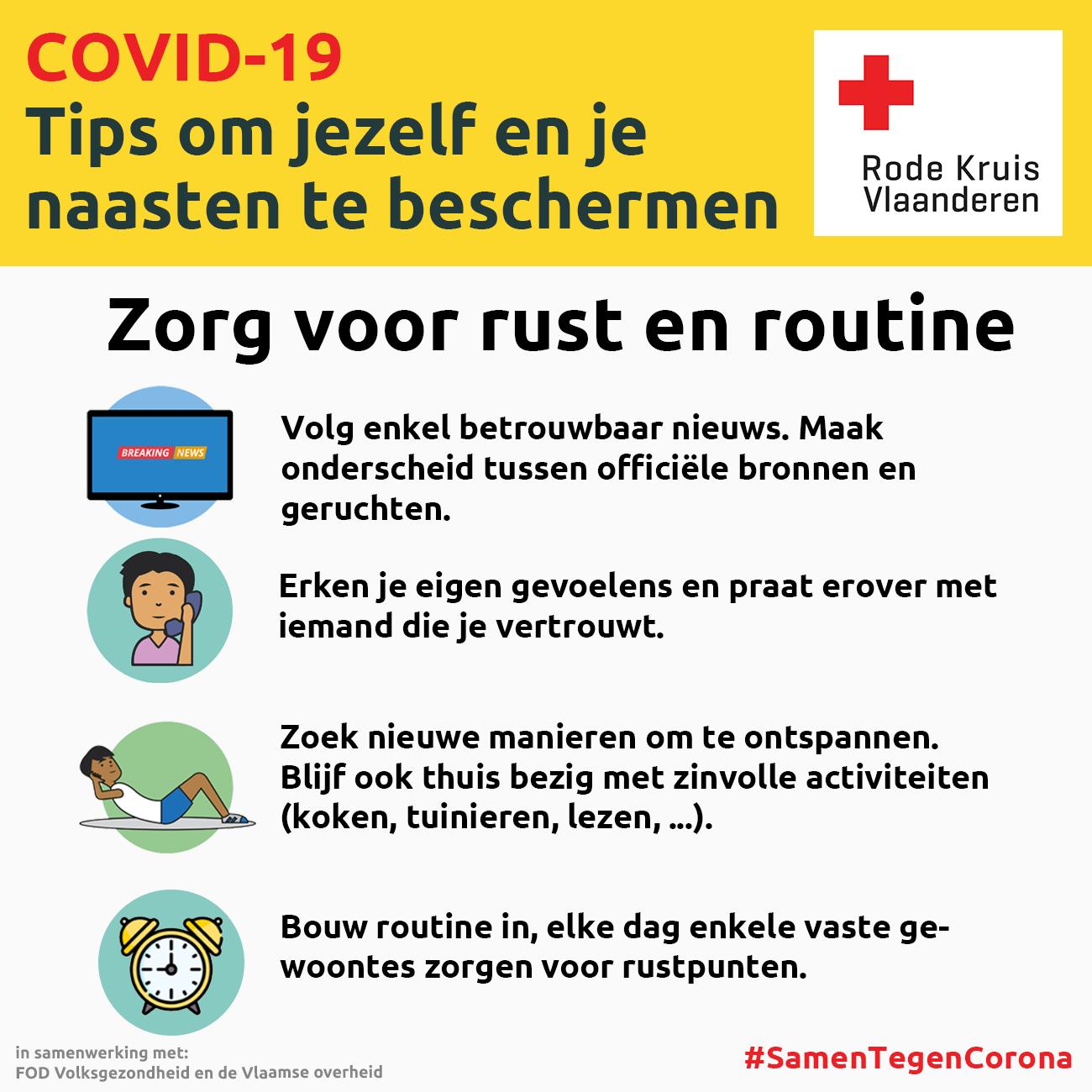 Coronavirus: zorg voor rust en routine