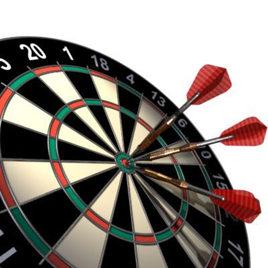 grote weergave darts