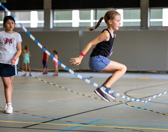 Rope skipping- & verrassingskamp i.s.m. Ropeskippingclub Let's Go